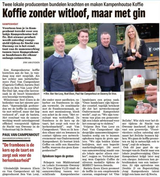 Kampenhout koffie nieuwsblad